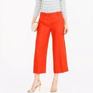 J CREW Womens 4 Pants GAZEBO Linen Capri